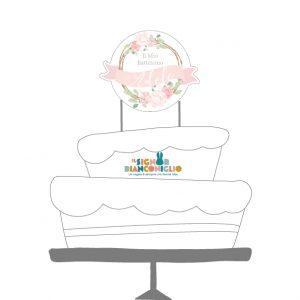 Cake topper Battesimi